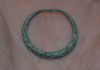 "A nice Viking ladies bronze ""Faux twist"" finger ring. SOLD"